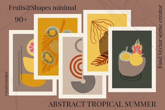 ABSTRACT TROPICAL SUMMER. Flora