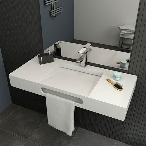 Te ofrecemos una amplia gama de muebles distintas medidas y colores para baños grandes y pequeños  is part of Corian bathroom -
