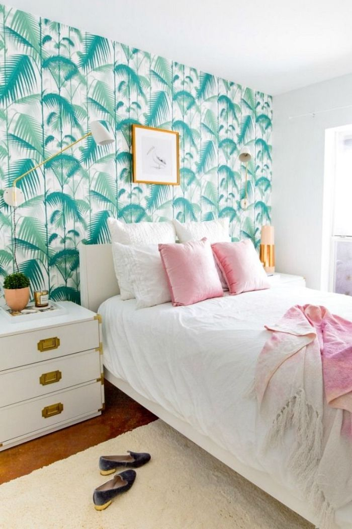 Discover the infinity of decorative possibilities with a headboard in wallpaper 40 Ideas
