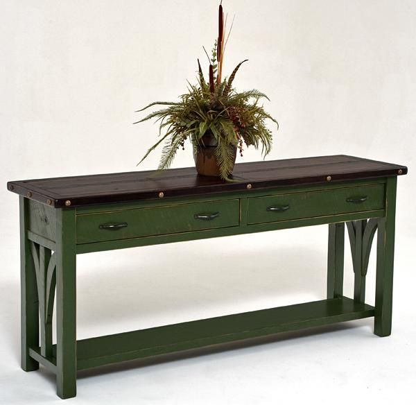 Timber Console Table Rustic Sofa Table Beam Console Rustic Furniture Painted Sofa Painted Furniture