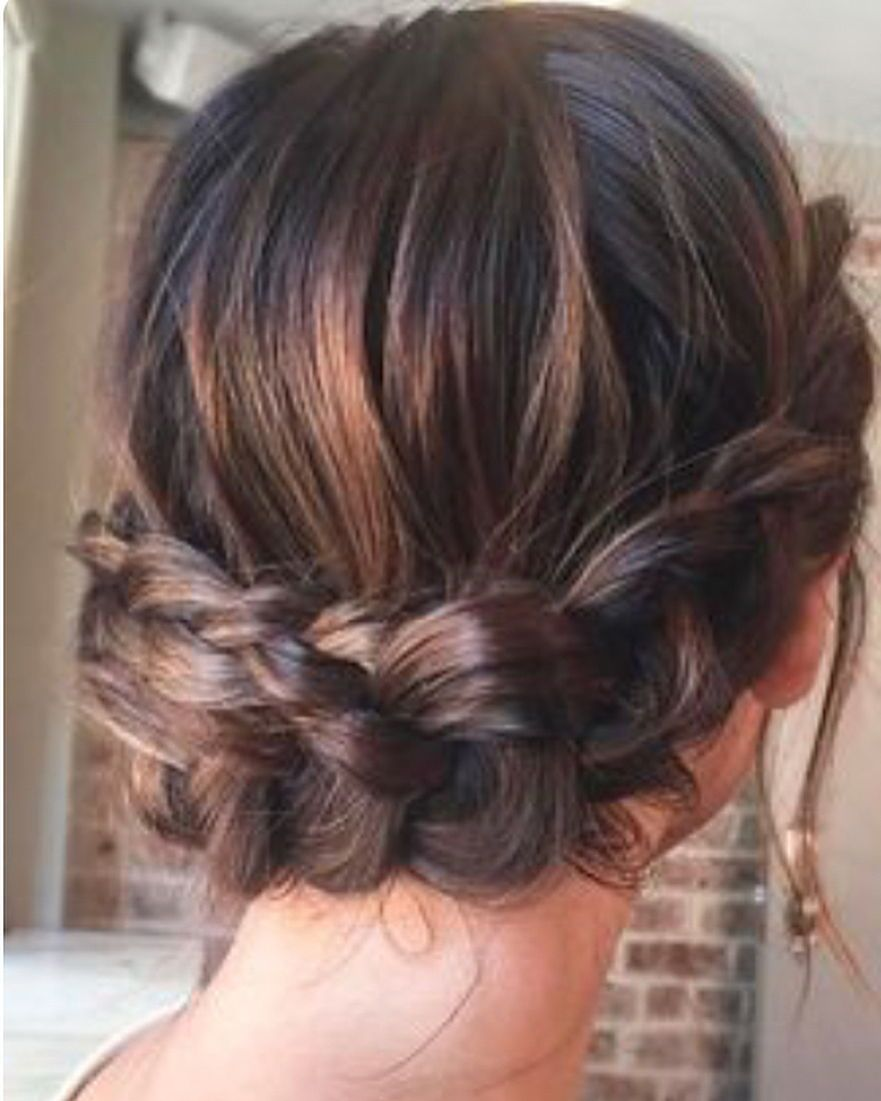 Peinados Para Cabello Muy Corto Peinados Para Damas De Honor Recogido Con Trenzas Peinados Con Pelo Recogido
