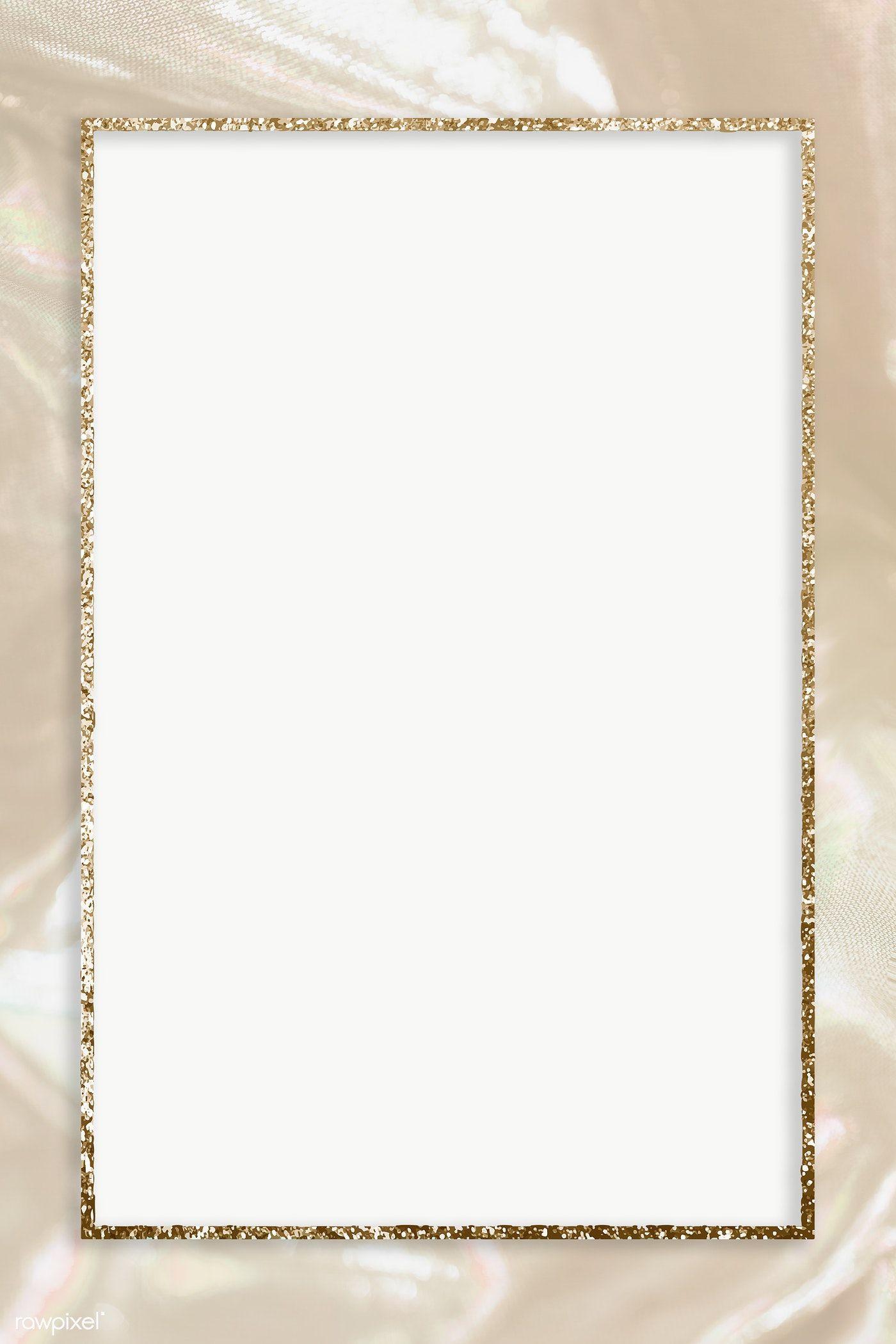 Beige And Gold Glitter Frame Transparent Png Premium Image By Rawpixel Com Adj Gold Glitter Background Glitter Frame Glitter Background
