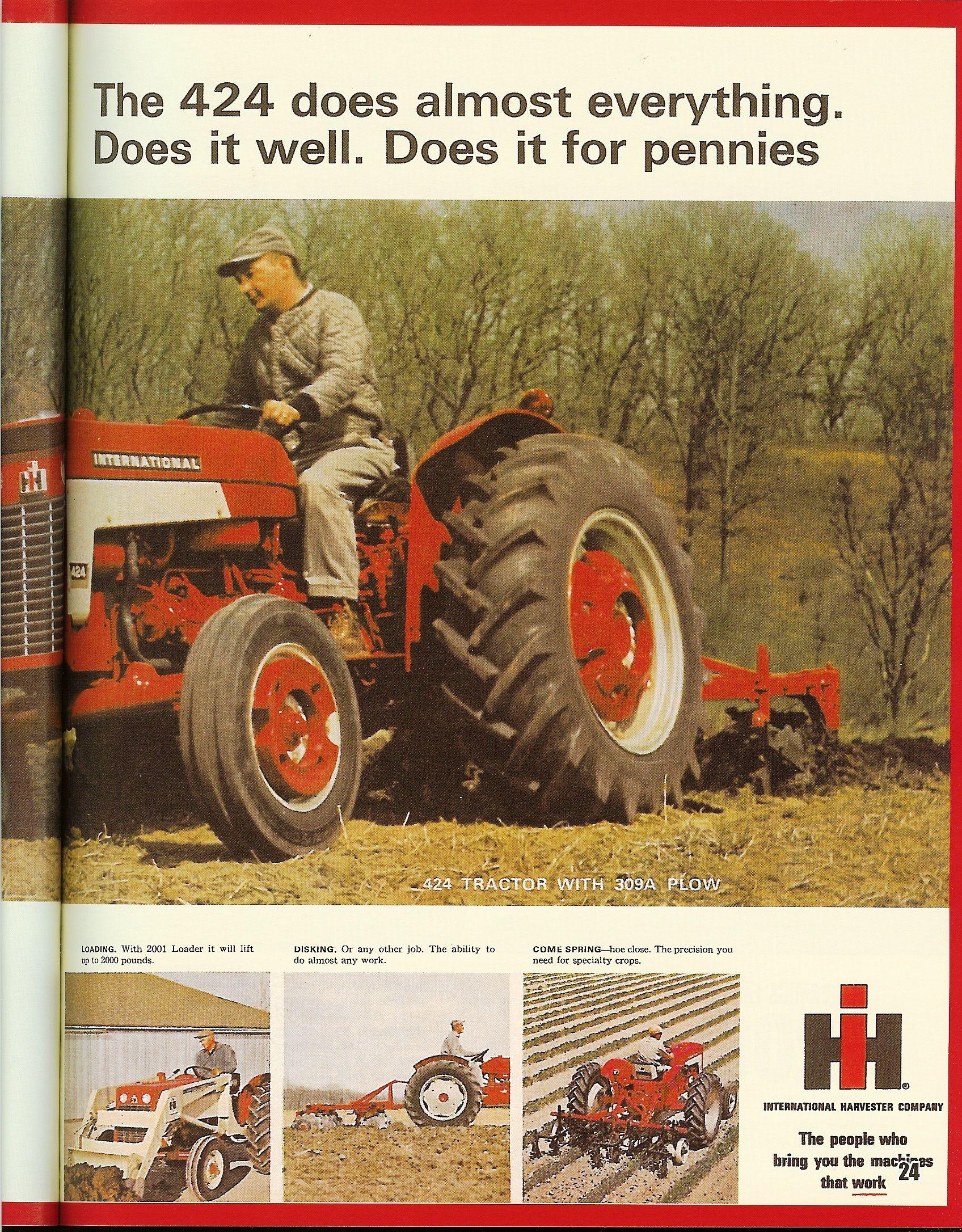 Ih 424 Utility Monster Trucks Farmall Tractors