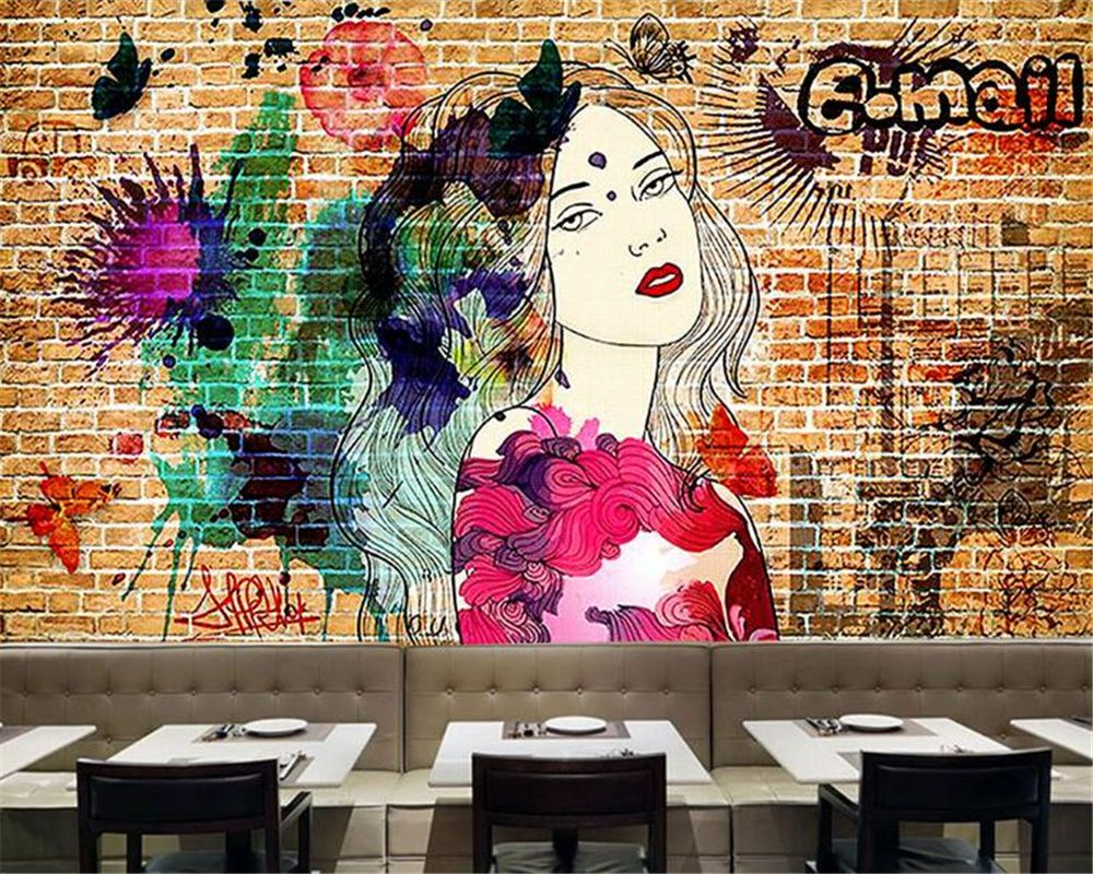 Beibehang Custom Large 3D Wallpaper Personalized Graffiti
