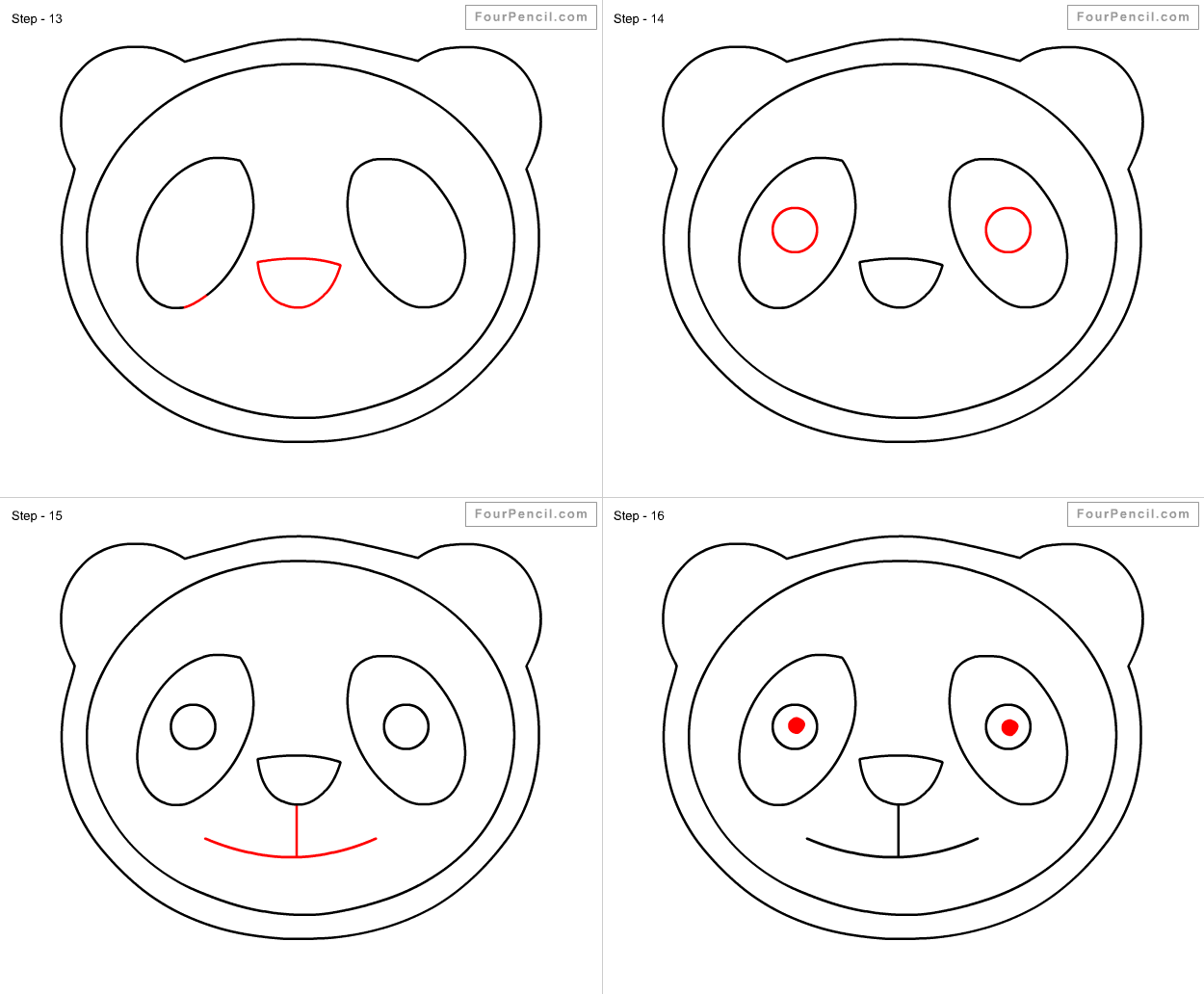 How To Draw Panda For Kids  Slide 4  Click To Enlarge