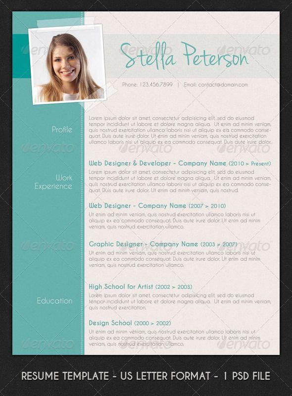 modern cv layout photoshop psd professional modern resume layout
