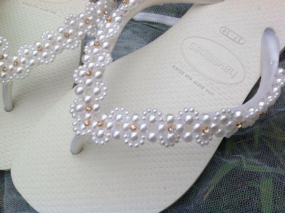 d2a29be65 Havaianas Casamento Pérolas 4 | Chinelos | Chinelos decorados ...