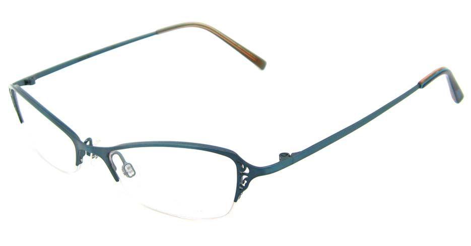 blue cateye metal best prescription glasses frame HL-SAVVY | Peepers ...