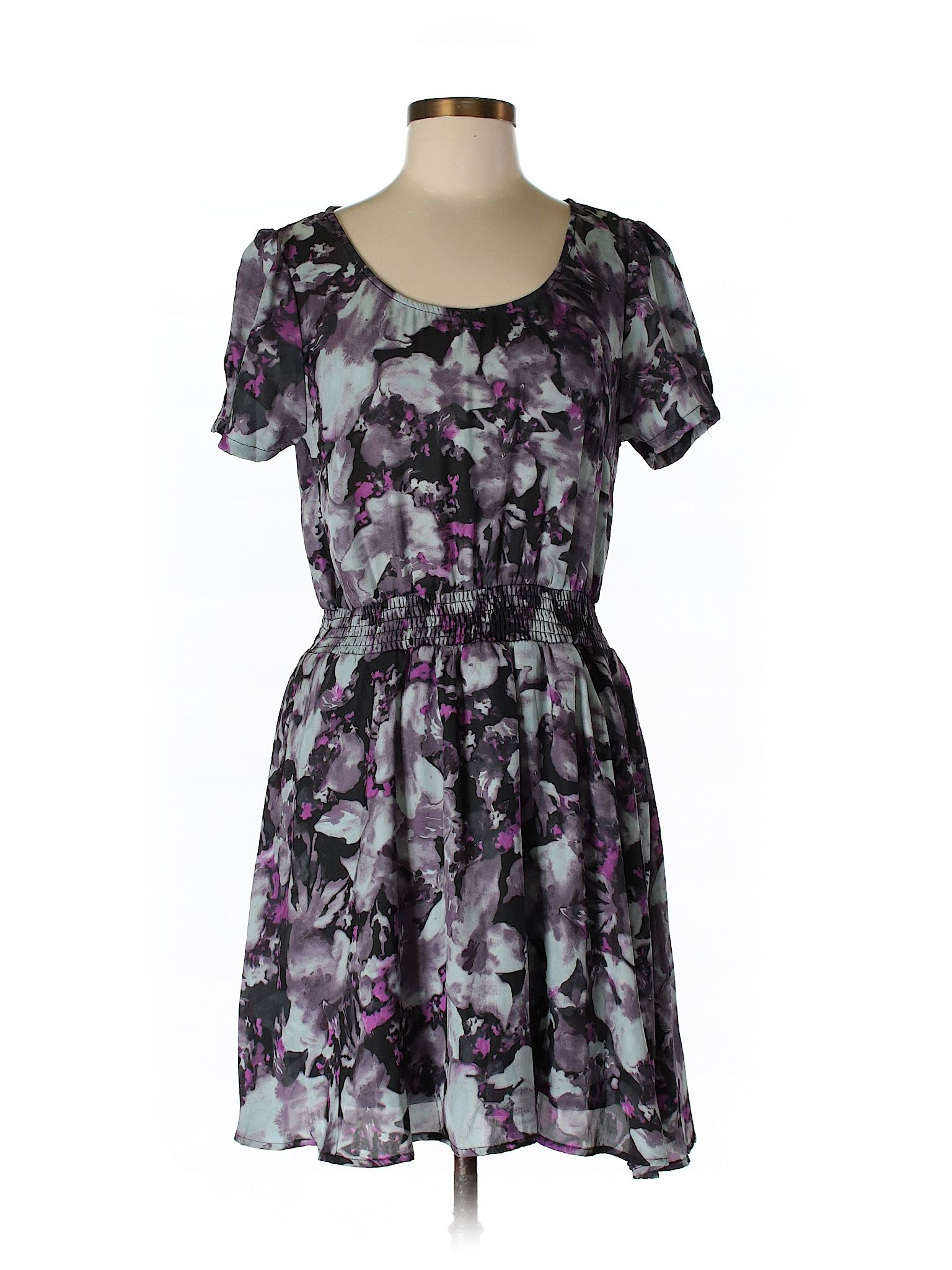 b266549cd165 Mimi Chica Casual Dress: Dark Purple Women's Dresses - 28836421