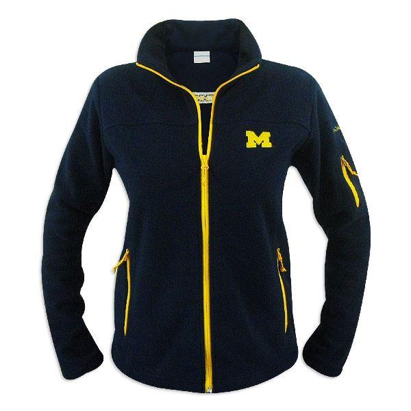 Michigan Wolverines Ladies Columbia Give and Go Full Zip Fleece ...