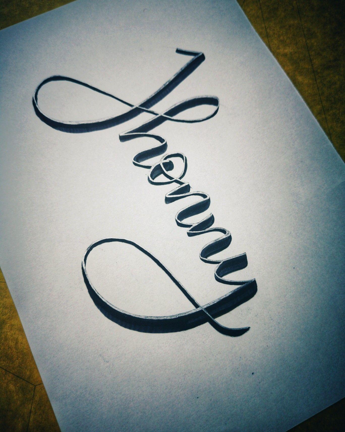 18 Nombres caligrafia