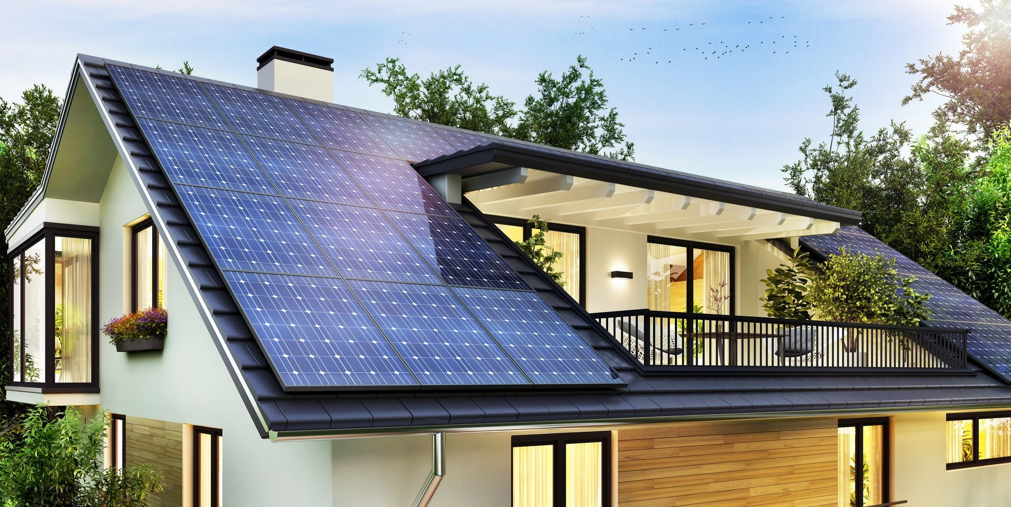 Simple Steps To Create A Zero Carbon Home Https Www Moneypit Com Simple Steps To Create A In 2020 Solar Panels Architecture Beautiful Modern Homes Solar Panels Roof