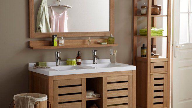 meuble salle de bain bois la redoute