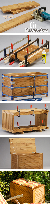 in dieser diy kissenbox aus massivem holz sind. Black Bedroom Furniture Sets. Home Design Ideas