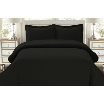 Andover Mills Driscoll 3 Piece Duvet Cover Set Size King California King Colour Black Duvet Cover Sets Black Duvet Bedding Sets