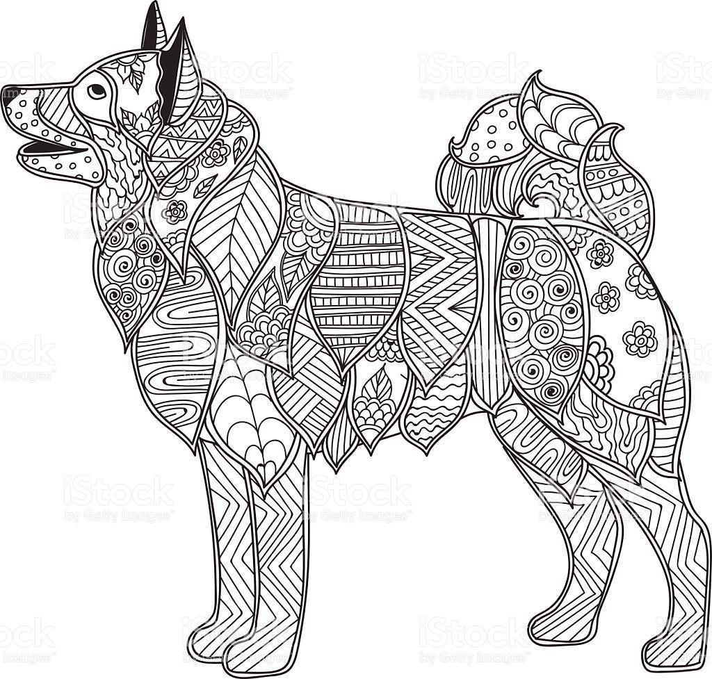 ausmalbilder hunde husky  tiffanylovesbooks