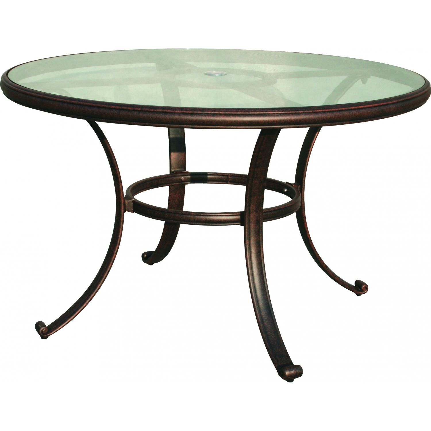 How Much Does Darlee Cast Aluminum Glass Top Round Dining Table, Antique  Bronze Finish Cost?