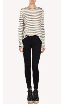 Proenza Schouler Striped Long-Sleeve T-shirt