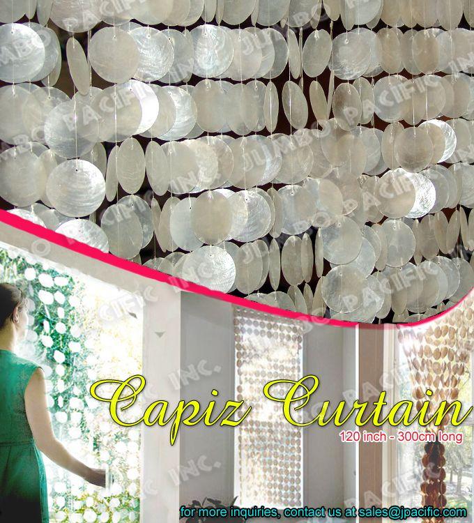 capiz shell window curtain capiz