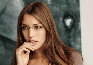 eyeglasses for women  Women Wearing Rimless Glasses