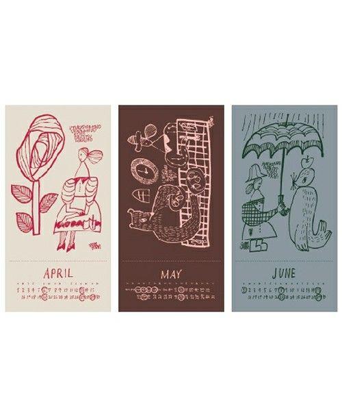 tito select (interior)(チトセレクト インテリア)の2014 CALENDAR (illustration:yamyam produced by dieci)(ステーショナリー)|詳細画像