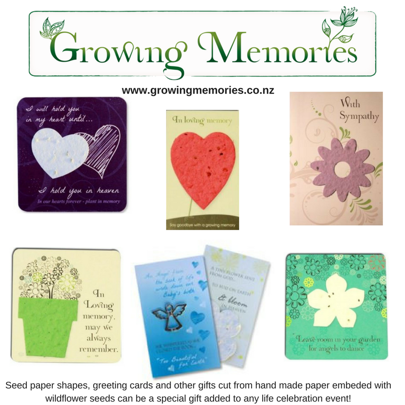 Growing Memories create wonderfully unique seed memorial and sympathy cards that you can personalise or send to someone who has lost a loved one.