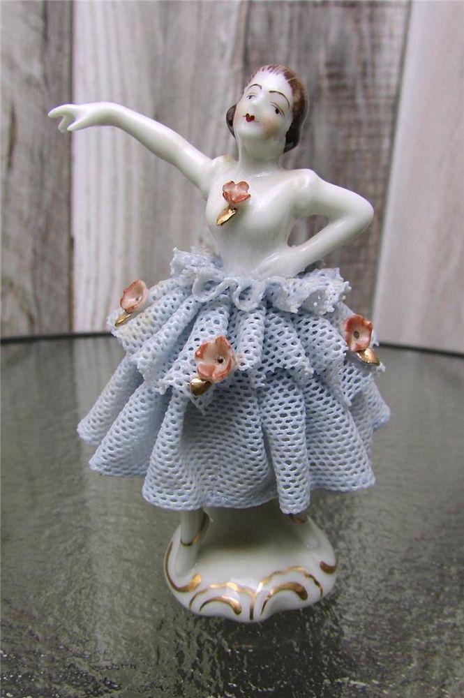 """Germany Dresden HUS Heinz Schaubach Unterweissbach  Dancer/Ballerina 3"""" Tall -- Gorgeous"""