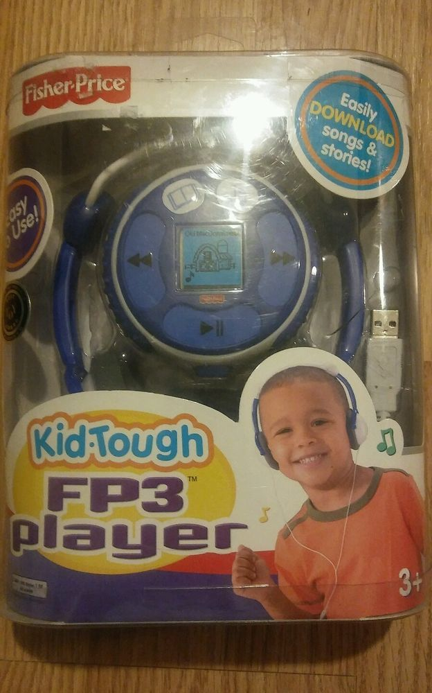 NEW FISHER PRICE FP3 PLAYER KID TOUGH BLUE 128MB BRAND