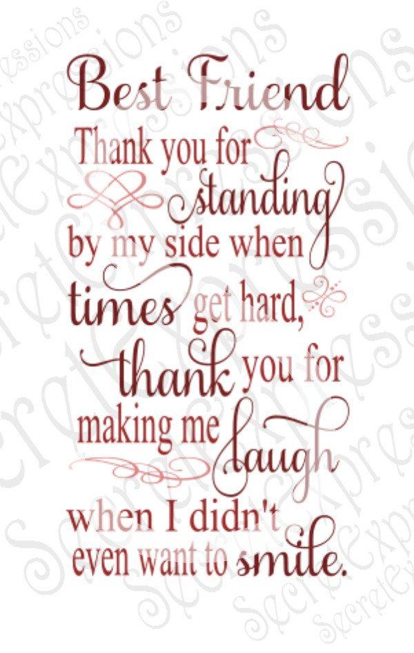 Best Friend Thank You Svg Friendship Svg Digital Svg File For