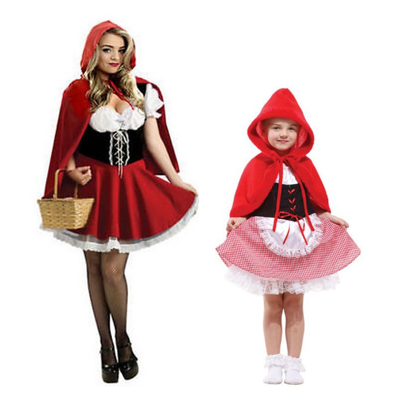 Red Riding Hood Costume Little Fairytale Womens Ladies Fancy Dress Costume