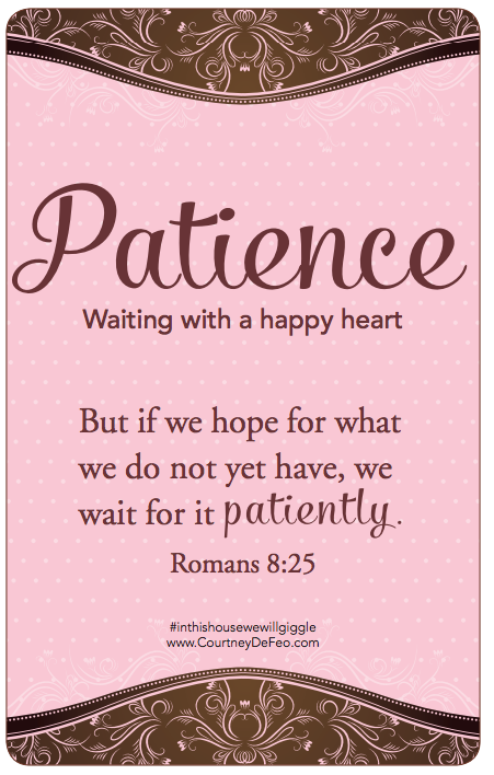 Romans 8:25 PATIENCE IS THE KEY... (With images ...