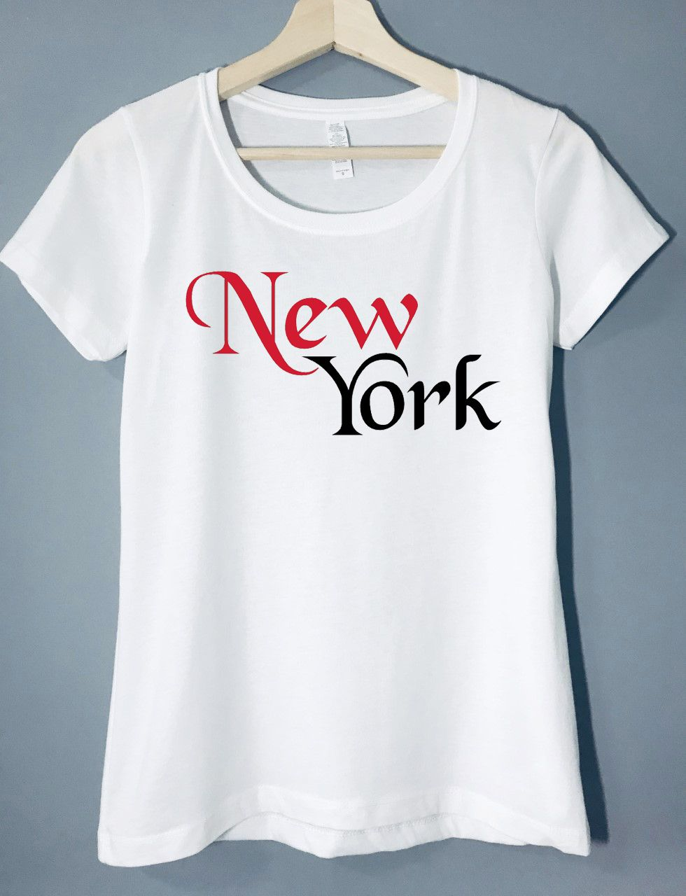 Red New York Womens T Shirt Brooklyn Womens T Shirts For