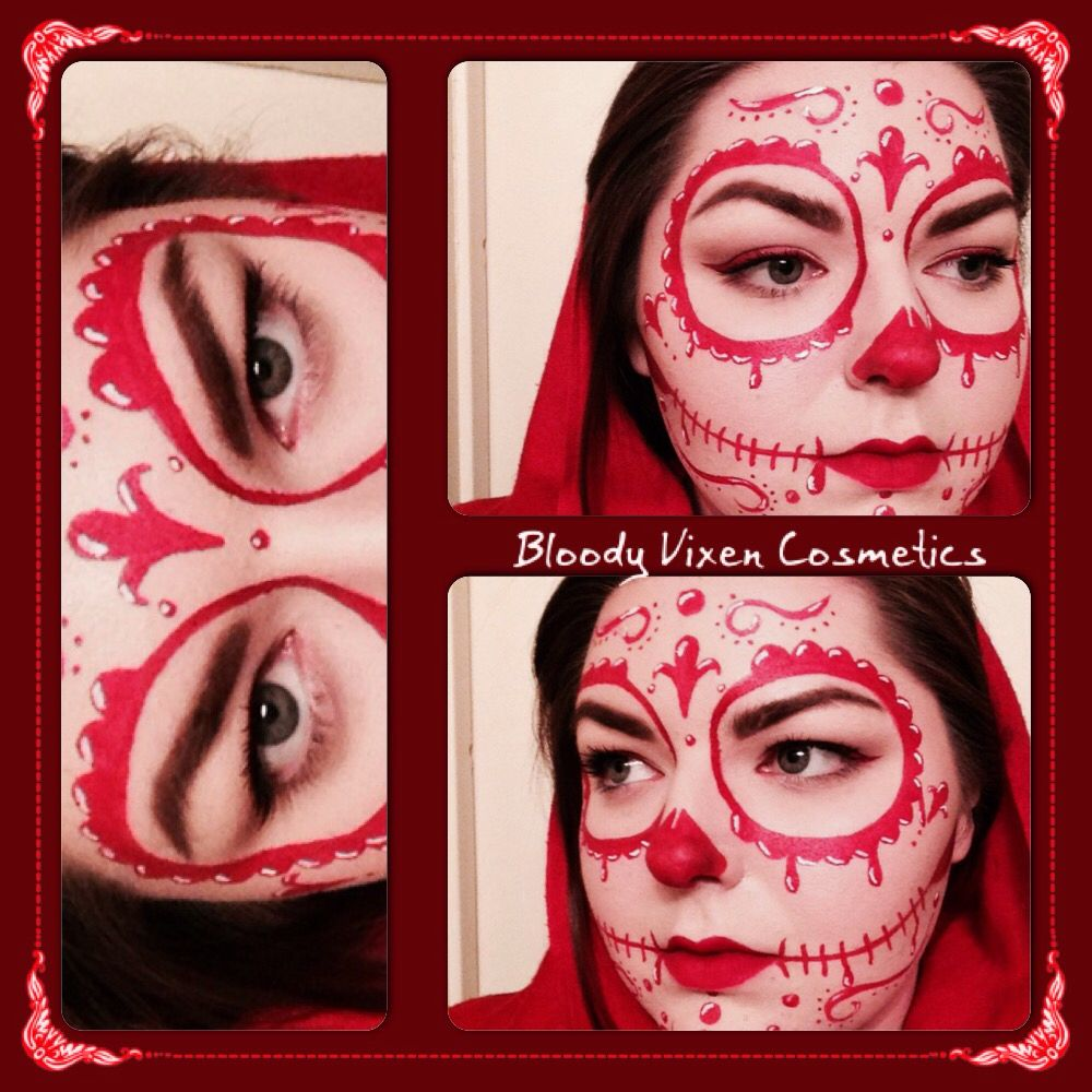 Sugar skull mask of the red death