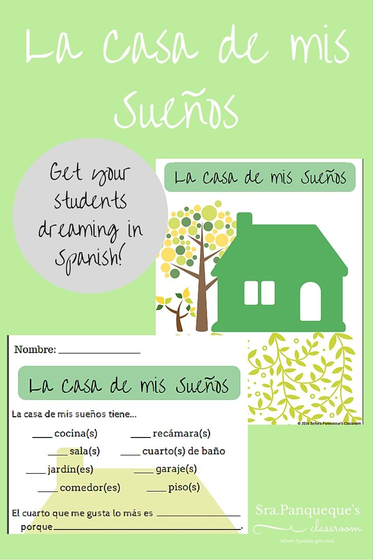 La Casa de Mis Sueños Activity | Spanish, Spanish vocabulary and ...