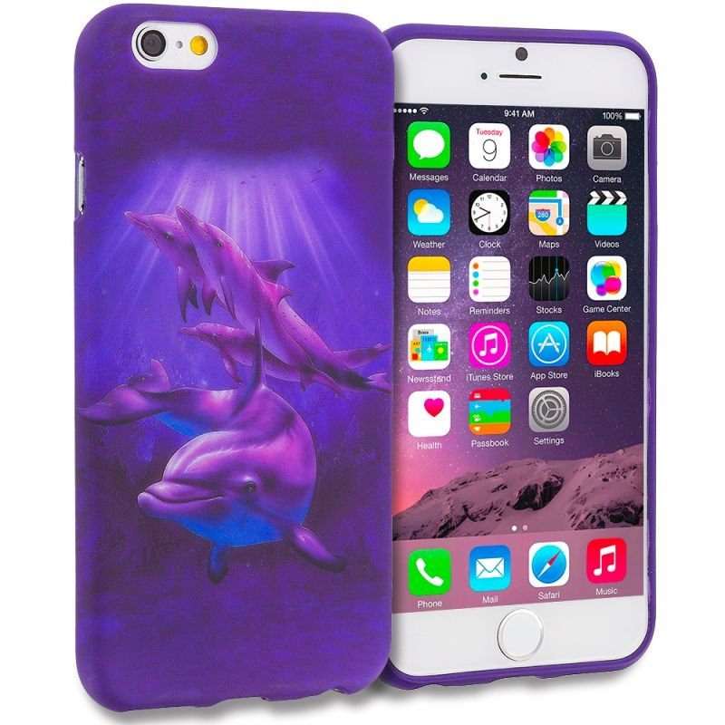 Purple Dolphin  Design Rubber Skin Case Cover  - Apple iPhone 6/6  - $0. https://www.tanga.com/deals/50991dfce654/purple-dolphin-design-rubber-skin-case-cover-apple-iphone-6-6