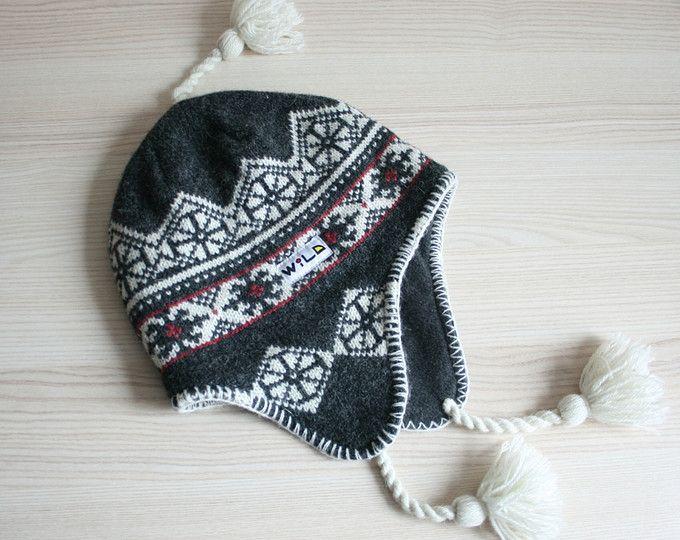 Fair isle wool hat Shetland Pom pom beanie Winter fair isle cap ...