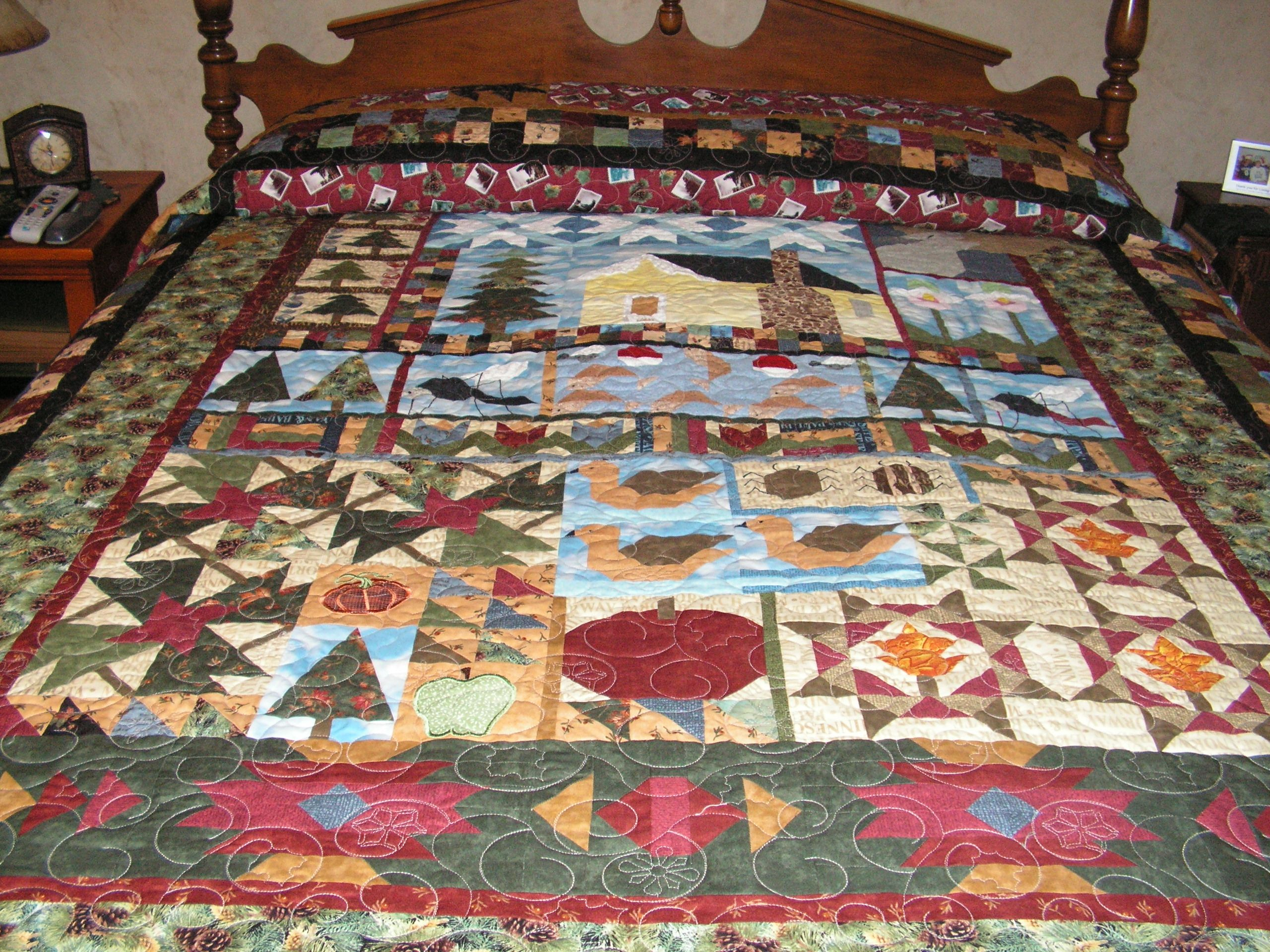 Minnesota Memories pieced with fabrics from Minnesota Shop Hop ... : minnesota quilt shop hop - Adamdwight.com