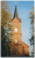 Finland.....The Lutheran church of Mäntsälä Finland. People go to church at Easter as part of the celebration.