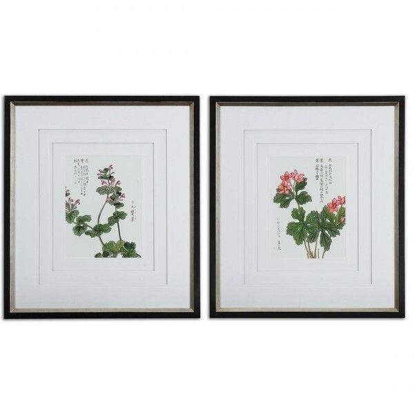 Uttermost Asian Flowers Framed Art Set/2 41513 ❤ liked on Polyvore ...