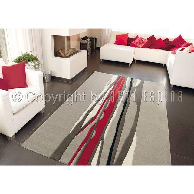 Tapis Moderne Tapis Salon Classe Red Trace En Acrylique Par Arte
