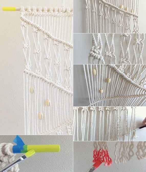 makramee deko selber machen als inspiration für kreative - wanddekoration selber machen