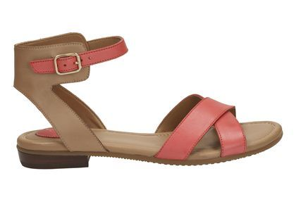 87e063d32d8447 Womens Casual Sandals - Viveca Zeal in Coral Leather from Clarks shoes
