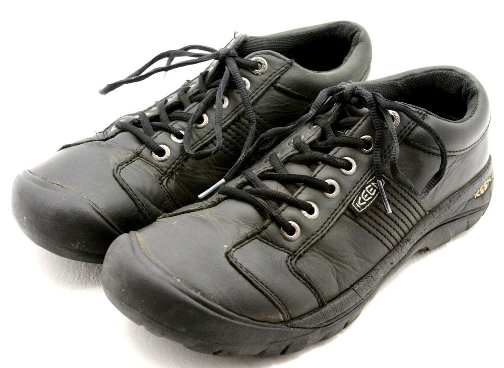 6d0a2685cc94 KEEN mens shoes size 9 AUSTIN black leather oxfords casual sneakers EU 42   KEEN  FashionSneakers  ebay