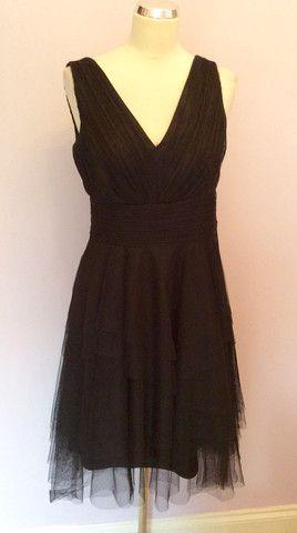 Monsoon Black Net Overlay Occasion Dress Size 10 Whispers Dress