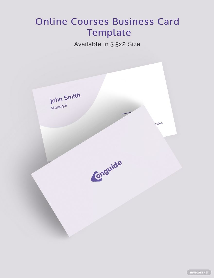 Online Courses Business Card Template Word Psd Indesign Apple Mac Pages Publisher Illustrator In 2020 Business Card Template Card Template Online Courses