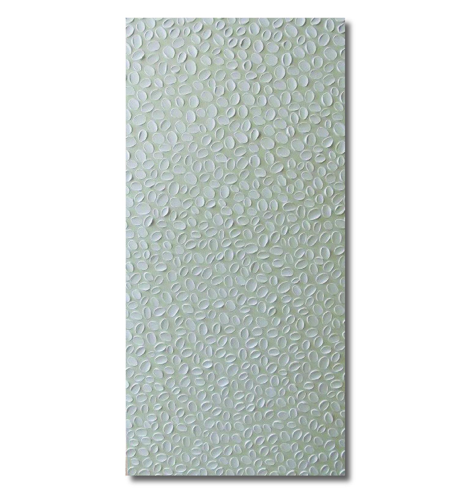 "White Ovals on Beige, 12 x 30"" Acrylic on Canvas"