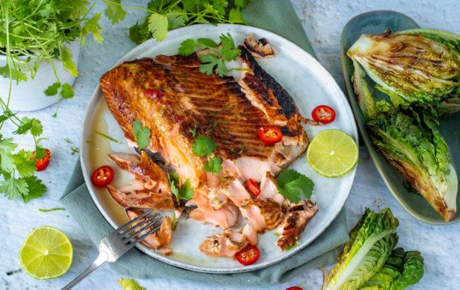 Zalm op de BBQ Aziatische marinade   Made by Ellen