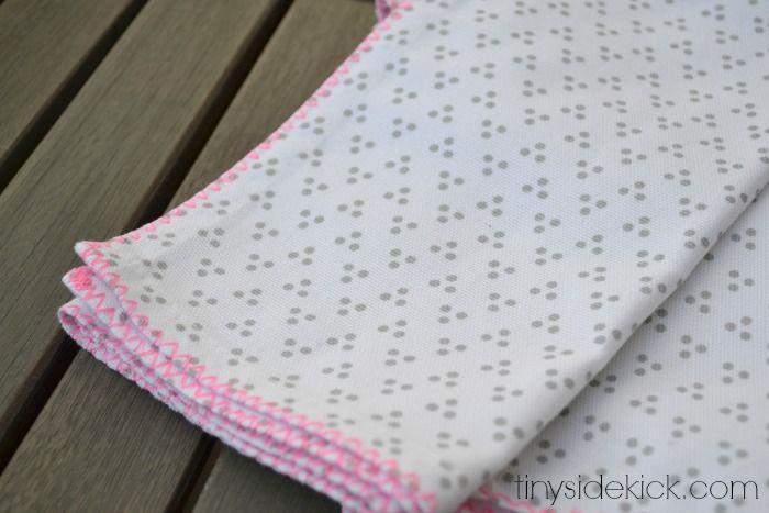 stitched edge napkins, west elm napkins, spring table decor, spring tablescape, stitched edge fabric