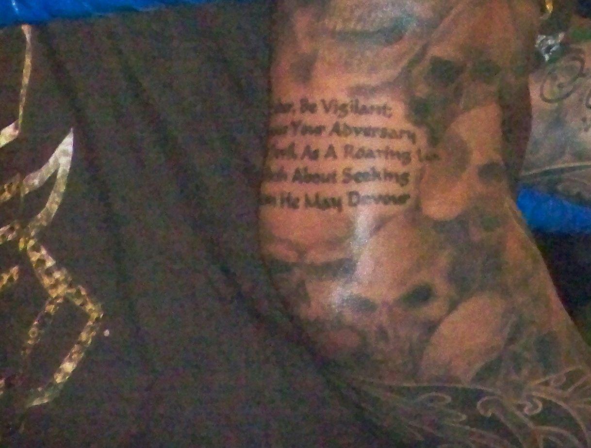 Randy orton elbow tattoo be sober be vigilant because your randy orton elbow tattoo be sober be vigilant because your adversary the devil as a roaring lion walketh about seeking whom he may devour 1 peter buycottarizona Gallery