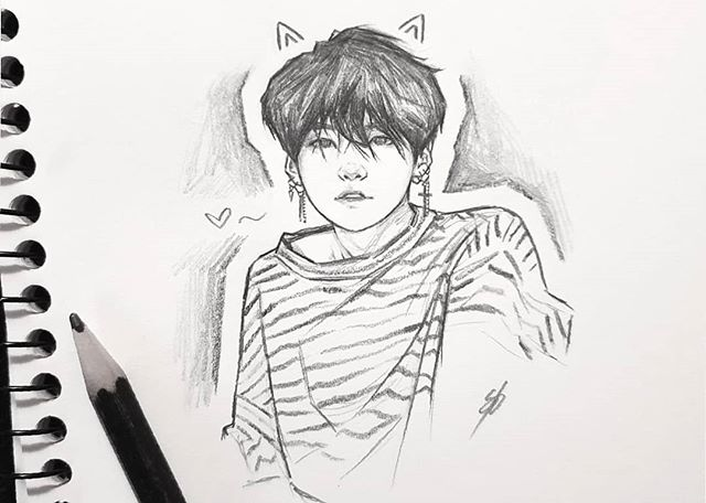 Instagram Bts Drawings Kpop Fanart Drawings
